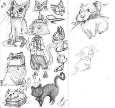 Study 10 Cats by Carotah