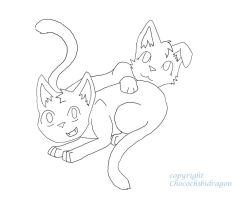 Kitten Lineart by ChocolateQuill