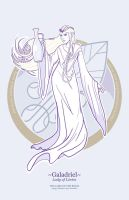 Galadriel lady of Lorien by greenwindstudio