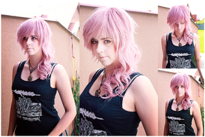 Final Fantasy XIII-2-Lightning wig test by kanamecosplay