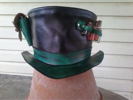 Apothecary Top hat by Leatherfanshop