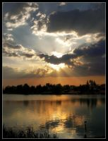 Sunset at Lake No.3 by 00AngelicDevil00