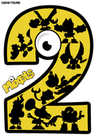 Mixels Second Anniversary Logo (UNOFFICIAL) by TheYoshiState