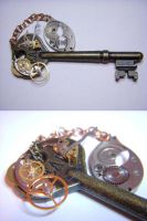 Steampunk Gear Key by Goku-Kaji