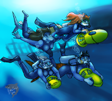 Shipwreck Dive [Commission] by TheBMeister