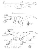 Draw a T-Rex or Velociraptor 1 by Diana-Huang