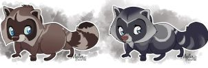 Lil blue eyed raccoons for sale (sold) by mydlas