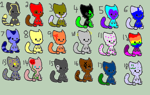 19 adoptables-1 by Mapleflame2