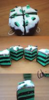 Clay charm- Mint cake by zigidity