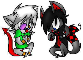 AT: Clef and jester as..cats? by sariasong64