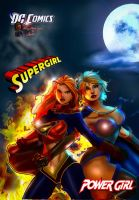 PowerGirl and SuperGirl by tecnoguru