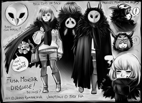 Undertale - Monster Disguise by Ashwings