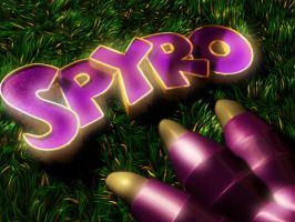 Spyro's logo by NeXuScrimson