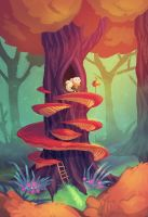 Tree House by cryoclaire