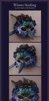 Winter Starling Leather Mask by windfalcon