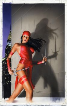 Elektra 29 Cover Painting by mikemayhew