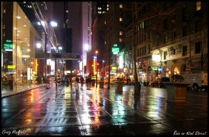 Rain on 42nd Street by CraigHadfield