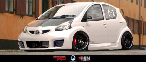 Toyota Aygo by Ophideus