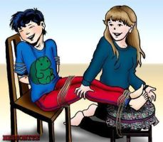 Boy tickled by girlfriend by ilovefood2011