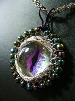 Dragon Eye Iris And Green Ice by BacktoEarthCreations