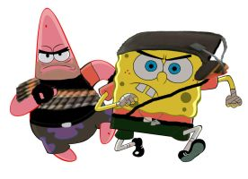 Heavy and Scout Spongebob Edition by mrmoptop2