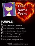 Purple's Name Poem by PurpleTheSeedrian95