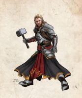 Thor in Dragon Age AU by slugette
