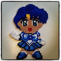perler beads Ami Mizuno - sailor mercury by staubtaenzerin