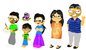 Meet my Irl Family As Cartoon by sheezy93