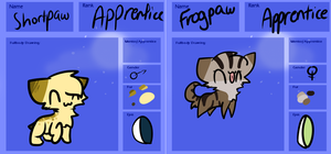 *ShortPaw and FrogPaw* by qoaties