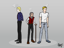 AU Jarvis, Tony, and Steve by Cera-Tay