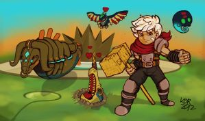 Bastion - The Kid and Pets by KOR-Design