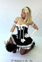 Blonde Maid striking a pose by bound-nicole-babe78