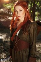 Tauriel in the Woods by CORSIGLIA