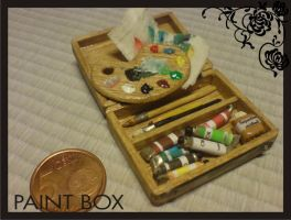 miniature dollhouse paint box2 by Yuki-Myst
