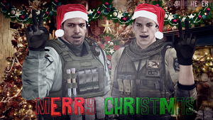 Merry Christmas From Chris and Piers by JhonyHebert