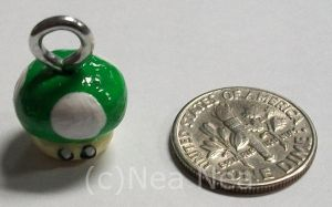 1 up charm by ElectricDinoSaur