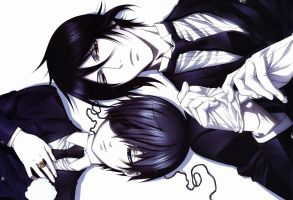 Ciel and Sebastian ::New ID:: by xKuroCiel