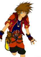 Sora coloured by burningkyubi
