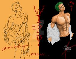 WIP-Take off your clothes,Zoro by NitoryuSora