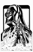 Anakin and Darth Vader by BrenGun