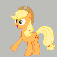 Waving Applejack by speedcow12
