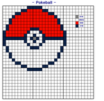Pokeball Cross Stitch Design by wilterdrose