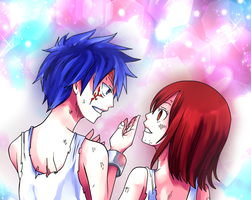 Jellal And Erza by RigelLaPererali