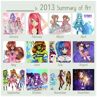 2013 Summary of Art by Chancetodraw