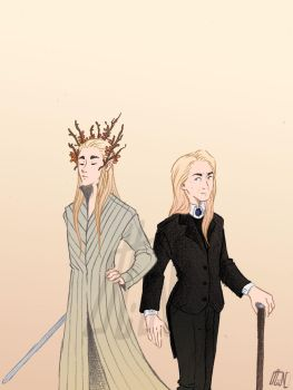 Thranduil and Lucius by Hiin-Green