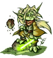 Young Yoda by skulljammer