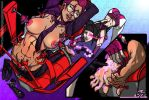 Crimson Viper Tickled by Juri Han by OekakiTickles