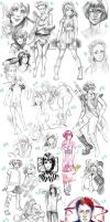 now THIS is a sketchdump XD 1 by Razuri-the-Sleepless