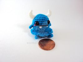 Halloween Line - Generic Blue Horned Monster by altearithe